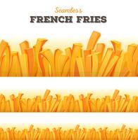 Nahtloser Pommes-Frites-Hintergrund vektor