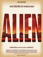 Alien Filmplakat-Vorlage