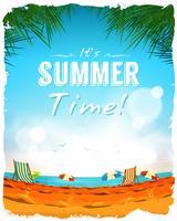 Sommerzeit-Plakat-Hintergrund
