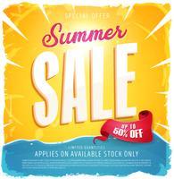 varm sommarförsäljningsbanner vektor
