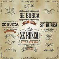 Wollte Vintage Western Banner