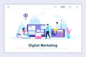 Digital marknadsföring modernt plattdesign koncept
