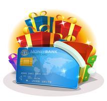 Santa Kreditkarte zum Weihnachtseinkaufen