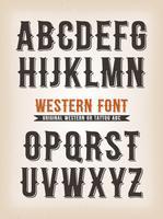 Vintage Western und Tattoo ABC-Schrift