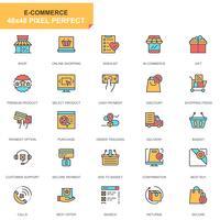 E-handel och shopping ikonuppsättning vektor