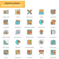 Web- und Grafikdesign-Ikonensatz vektor