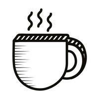 Symbol für den Stil der Kaffeetasse Doodle vektor