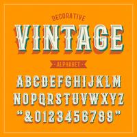 Dekoratives Weinlese-Vektor-Alphabet