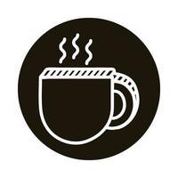 Kaffeetasse Doodle-Block-Stil-Symbol vektor
