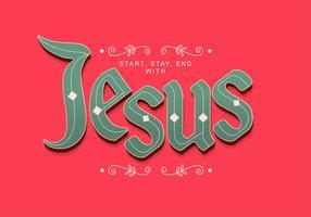 Jesus Hand Schriftzug Typografie vektor