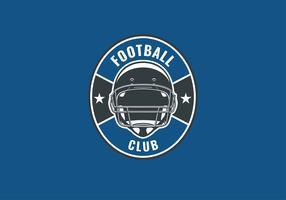 Amerikanischer Fußball-Emblem-Sturzhelm-Vektor vektor