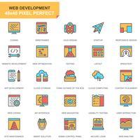 Webbdesign och utveckling ikoner