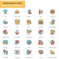Restaurang och mat ikonuppsättning vektor