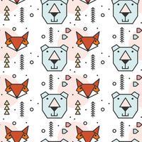 Geometrische Form Tiere Muster vektor