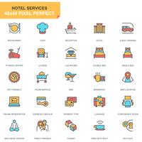Hotelltjänster Ikonuppsättning