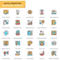 Affär och marknadsföring ikonuppsättning vektor