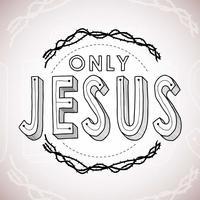 Nur Jesus Handbeschriftung vektor