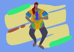 Hervorragender Mann in Dashiki-Vektoren vektor