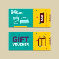 Geschenkgutschein-Vektor-Vorlage