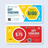 Moderner Geschenkgutschein-Schablonen-Vektor