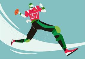 Spieler-Vektor-Charakter-Illustration des amerikanischen Fußballs vektor