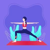 Yoga-Klassenvektor vektor