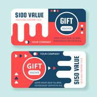 Geschenkgutschein-Schablonen-Vektor