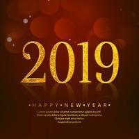 2019 Frohes Neues Jahr Feier Hintergrund vektor