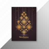 Heiraten Sie Weihnachtsbaumbroschüren-Schablonendesign vektor