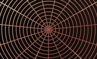 Spinnennetz-Design mit Roségold und Schwarz vektor