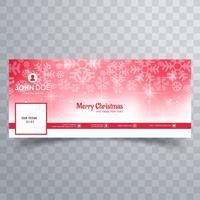Schneeflocke der frohen Weihnachten mit Facebook-Fahnenschablonenvektor vektor