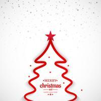 Minimale Linie Baumhintergrund der frohen Weihnachten vektor