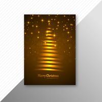 Schönes buntes heiraten Weihnachtsfestfliegerschablonen-Design v vektor