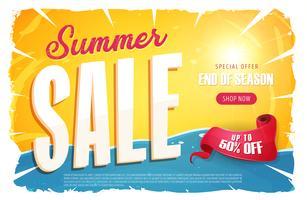 varm sommarförsäljningsbanner