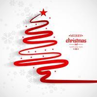 God jul minimal linje träd bakgrund vektor
