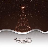 Fröhlicher Weihnachtsbaumfeierhintergrund vektor