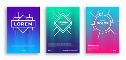 Cover page design, kreativa gradienter bakgrund