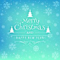 Schöner Kartenhintergrund der frohen Weihnachten des Festivals vektor
