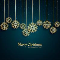 Schöner dekorativer Schneeflockenhintergrund der frohen Weihnachten vektor