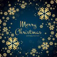 Schöner Schneeflockekartenhintergrund der frohen Weihnachten vektor