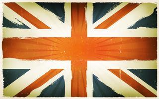 Vintage engelska flagga affisch bakgrund vektor
