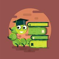 Bücherwurm-Vektor
