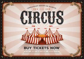 Vintage horisontal cirkusaffisch vektor
