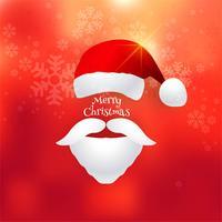 Schöne Karte der frohen Weihnachten mit Sankt-Huthintergrund