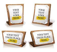 Weißbuch-Zeichen auf hölzerner Tablette