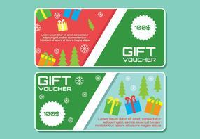 Vektor-Geschenkgutschein-Vorlagen