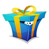 Geburtstags-Geschenkbox mit Spaßgeschöpf nach innen vektor