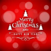Schönes Design der Karte der frohen Weihnachten vektor
