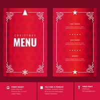 Weihnachtsrestaurant und Party Menü Einladungsvorlagen vektor