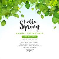 Frühling lässt Hintergrund vektor